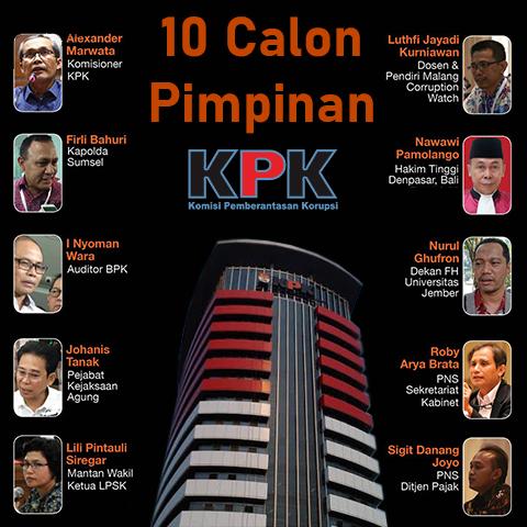 10 calon pimpinan KPK